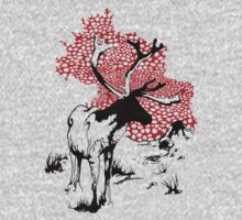 Reindeer drawing One Piece - Long Sleeve