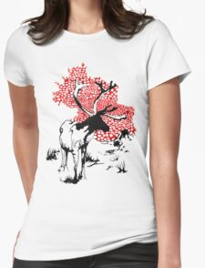 Reindeer drawing Womens Fitted T-Shirt