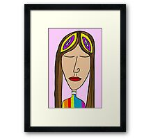 Lady in peace Framed Print