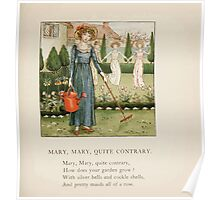 The April Baby's Book of Tunes by Elizabeth art Kate Greenaway 1900 0053 Mary Mary Qite Contrary Poster