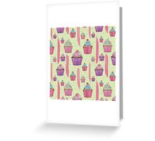 Cupcakes & Brush Strokes Greeting Card