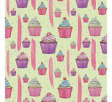 Cupcakes & Brush Strokes Photographic Print