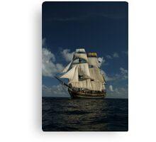 Sails on the Caribbean Canvas Print