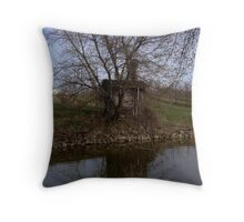 Water Pump Shed Throw Pillow