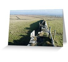 Stacked Stone Walls Greeting Card
