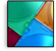 coloured angles Canvas Print