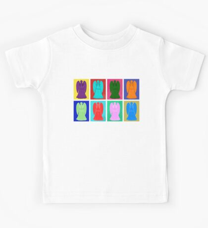 Weeping angels Pop Art Colour Kids Tee