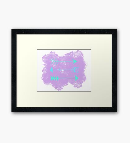 Pastel Arrows Framed Print