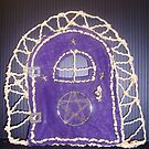 Purple Protection Faerie Door by Cheryl Sinfield