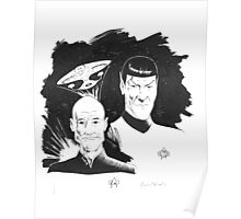 Startrek: Picard and Spock Poster