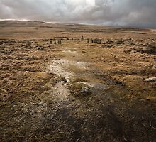 Wet and windy descent to Scorhill Stone Circle by Andy Stafford