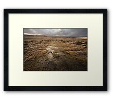 Wet and windy descent to Scorhill Stone Circle Framed Print