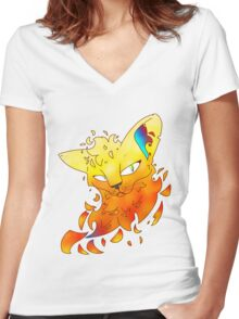Fire Alone Women's Fitted V-Neck T-Shirt