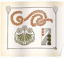 Maurice Verneuil Georges Auriol Alphonse Mucha Art Deco Nouveau Patterns Combinaisons Ornementalis 0042 Poster