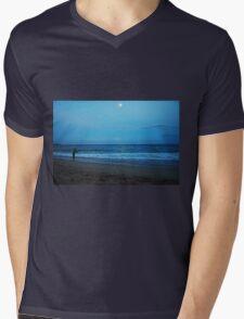 Moonlight Fishing Mens V-Neck T-Shirt