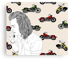 Motorcycle Harry  Canvas Print