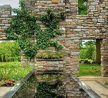 Chanticleer Castle Ruins Garden by Marilyn Cornwell