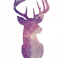 The Stag - Purple and Pink Galaxy by SClarkeArt