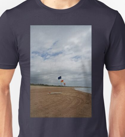 Flags and a surfboard Unisex T-Shirt