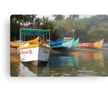Coloured Boats Metal Print