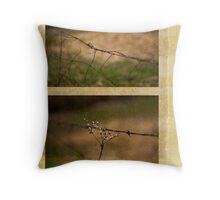 Barbed Wire Diptych Throw Pillow