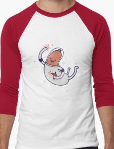 SPACE SAUSAGE IN OUTER SPACE, YAY!! Men's Baseball ¾ T-Shirt
