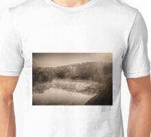 Misty River Morning Unisex T-Shirt
