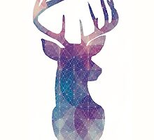 The Stag - Galaxy of Colors by SClarkeArt