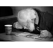 Man reading paper Photographic Print