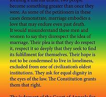 Gay Marriage SCOTUS Ruling by welikestuff