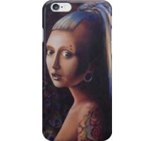 Girl with a Gauge iPhone Case/Skin