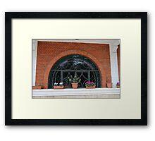 wrought iron 01 Framed Print