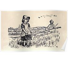 Some Little People George Kringle & Kate Greenaway 1881 0039 A Flock of Birds Poster