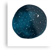 the stars, the moon, they have all been blown out Metal Print
