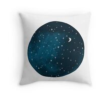 the stars, the moon, they have all been blown out Throw Pillow