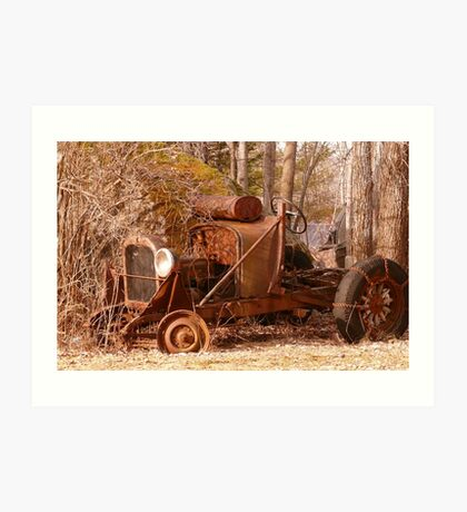 Rusty Old Car... Art Print