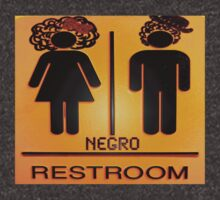 2010 Census Restroom Sign by glowsociety