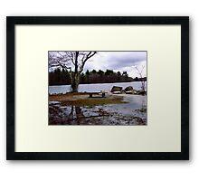 Overflowing lake Framed Print