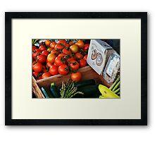 Fresh Produce Framed Print