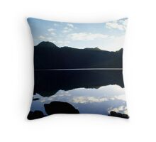 Blue sunset @ The Lake Throw Pillow