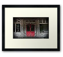 red doors Framed Print