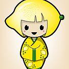 Lemon Kokeshi Doll by Bubble Doll