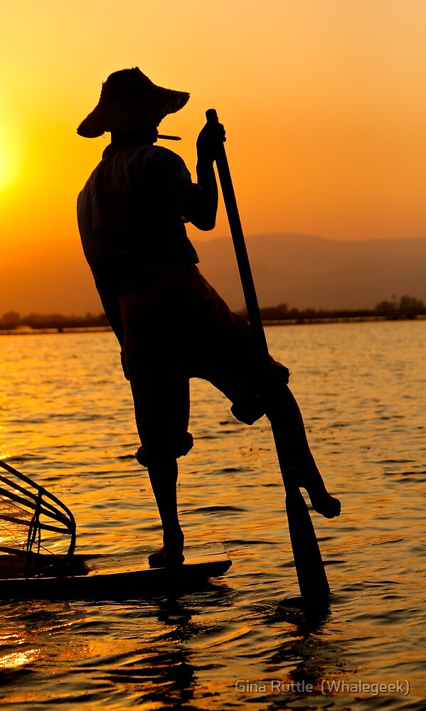 Fisherman At Day's End by Gina Ruttle  (Whalegeek)