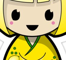Lemon Kokeshi Doll Sticker