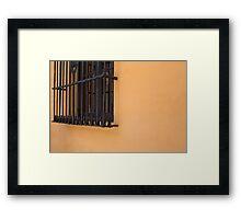 orange wall Framed Print
