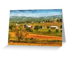 Country - Cows Grazing Greeting Card