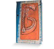 art in ceramic F.Kalemi 6 Greeting Card