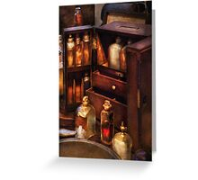 Doctor - The medicine cabinet Greeting Card