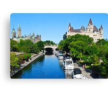 Ottawa Postcard Canvas Print