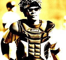 a catcher's look... by Allan  Erickson